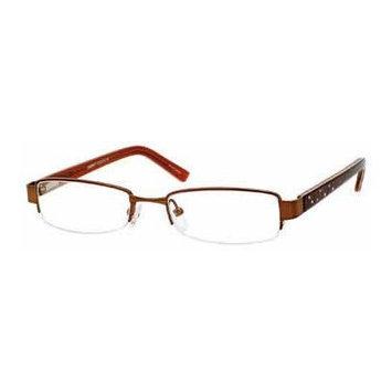 Seventeen 5319 Brown Designer Reading Glass Frames ; Demo Lens