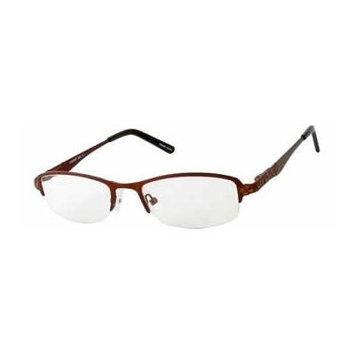 Seventeen 5360 Brown Designer Reading Glass Frames ; Demo Lens
