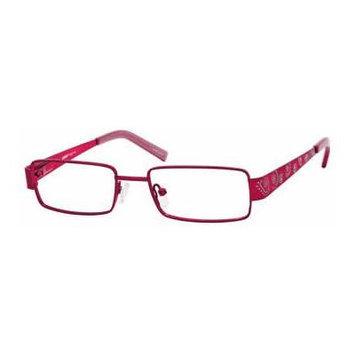 Seventeen 5341 Burgundy Designer Reading Glass Frames ; Demo Lens