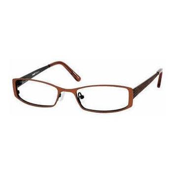 Seventeen 5325 Brown Designer Reading Glass Frames ; Demo Lens