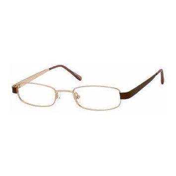 Seventeen 5339 Brown Designer Reading Glass Frames ; Demo Lens