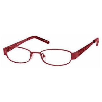 Seventeen 5363 Burgundy Designer Reading Glass Frames ; Demo Lens