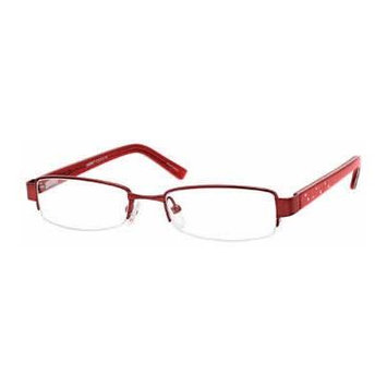 Seventeen 5319 Burgundy Designer Reading Glass Frames ; Demo Lens
