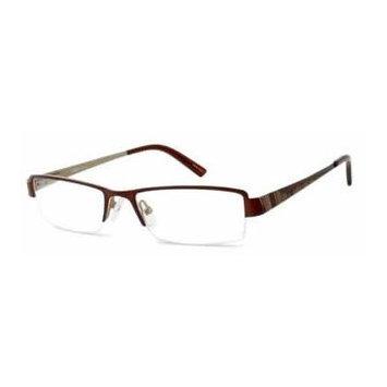 Seventeen 5381 Brown Gold Designer Reading Glass Frames ; Demo Lens