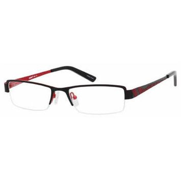 Seventeen 5381 Black Red Designer Reading Glass Frames ; Demo Lens