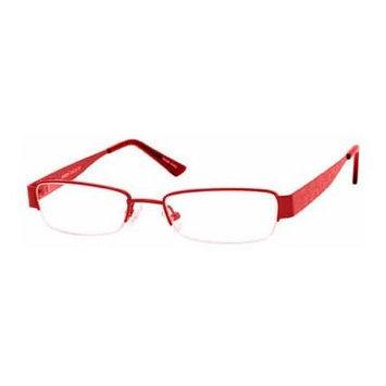 Seventeen 5338 Burgundy Designer Reading Glass Frames ; Demo Lens