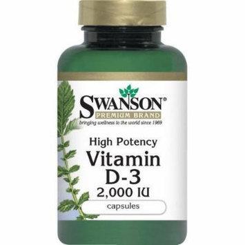 High Potency Vitamin D-3 (3 Bottles) Swanson Capsule Format