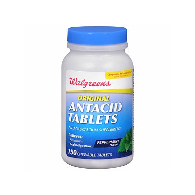Walgreens Antacid Chewable Tablets Original