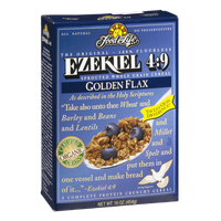 Fit For Life Ezekiel 4:9 Sprouted Whole Grain Cereal Golden Flax