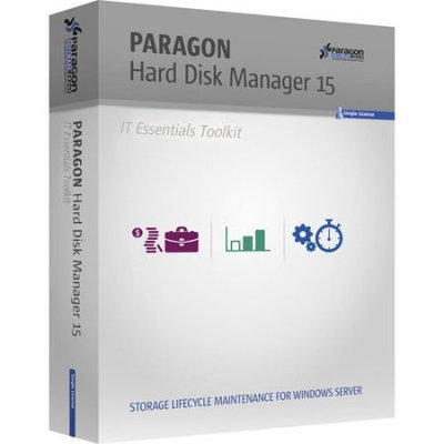 Paragon 299PMETLAS50 Hard Disk Manager 15 IT Essential Tool Kit, 1 Year, 26-50 Seats (Email Delivery)