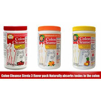 Colon Cleanse Stevia 3 Flavors Pack Naturally Absorbs Toxins in the Colon 255gr