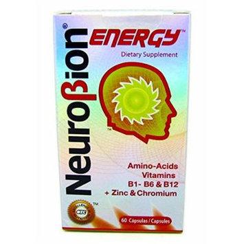 NeuroBion Energy Dietary Supplement 60 Capsules Amino Acids Vitamins B1, B6 & B12 + Zinc & Chromium