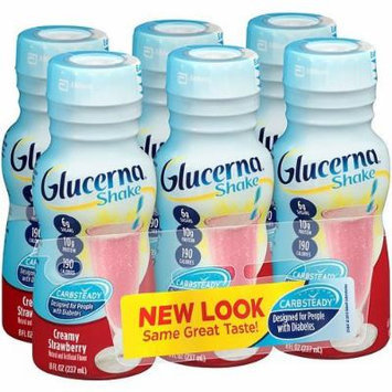 Glucerna Shake for People with Diabetes, 8 fl oz Bottles, Strawberry 6 ea ...