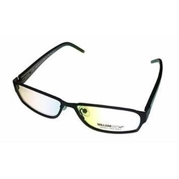 William Rast Ophthalmic Eyewear Frame 1005 Black Modified Rectangle Metal