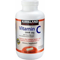 Kirkland Vitamin C with Rose Hips and Citrus Bioflavonoid Complex (1000 mg), 500-Count Tablets (Pack of 2)