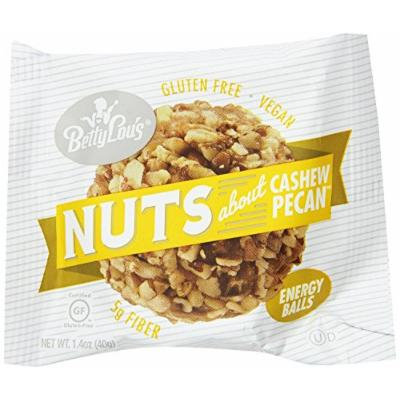 Betty Lou's Energy Balls, Cashew Pecan, 1.4 Ounce (Pack of 12)