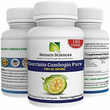 Garcinia Cambogia Pure Extract BIG SIZE By Naturo Sciences - Best Quality All Natural Health Supplement - Live for Your Body - 180 Count, 1000mg Per Serving, 90 Servings