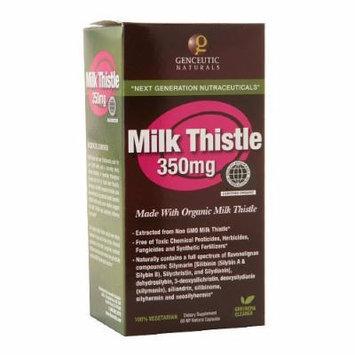 Genceutic Naturals Milk Thistle 350mg, Capsules 60 ea