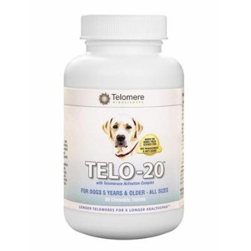 TELO-20 for Dogs with Telomerase Activation Complex - 60 Chewable Tablets