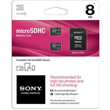 Sony SR8A4D/TQMN 2-Pack Class 4 microSDHC Card-8GB