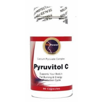 Pyruvitol C # 180 Capsules # Calcium Pyruvate 600mg L-Carnitine 200mg Alpha Lipoic Acid 100mg - BioPower Nutrition (2 Bottles)