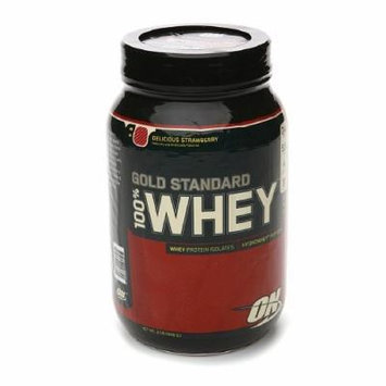 Optimum Nutrition Gold Standard Natural 100% Whey Protein, Delicious Strawberry 2 lb
