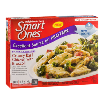 Weight Watchers Smart Ones Creamy Basil Chicken With Broccoli