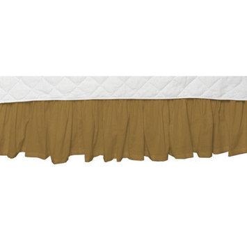 Patch Magic Golden Chambray Fabric Crib Dust Ruffle