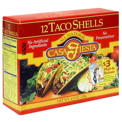 Casa Fiesta Taco Shells, 4.5-Ounce Boxes (Pack of 12)