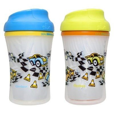 Gerber Graduates 2pk Advanced Insulated Cup-Like Rim Sippy Cup