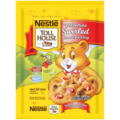 Toll House Valentine Swirl Chocolate Chip Cookie Dough, 16 oz
