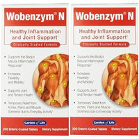 Garden of Life Wobenzym N, 200 Tablets (2 Pack)