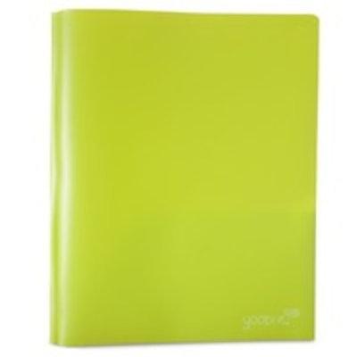 Yoobi™ Pronged 2 Pocket Plastic Folder - Green