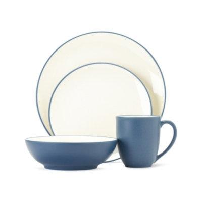 Noritake Dinnerware, Colorwave Blue Coupe 4 Piece Place Setting