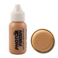 Photo Finish Professional Airbrush Foundation Makeup-1.0 Oz Cosmetic Face- Choose Color (Golden Tan-Matte)