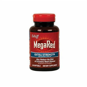 Schiff MegaRed Extra Strength 500mg Omega 3 Krill Oil Softgel, (80 ct Pack of 2)