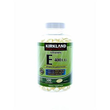 Kirkland Signature Vitamin E 400 I.U. 500 Softgels, 2 Bottles