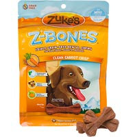 Zukes Z-Bone Carrot Edible Dental Dog Chew Mini