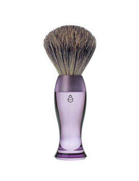 eShave Fine Badger Shaving Brush Purple