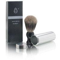 eShave Fine Badger Shaving Brush (Travel with Canister) Black