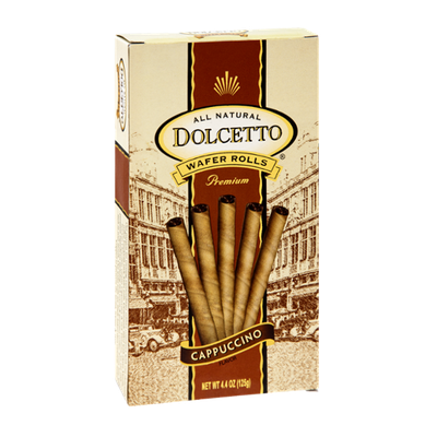 Dolcetto All Natural Premium Cappuccino Wafer Rolls