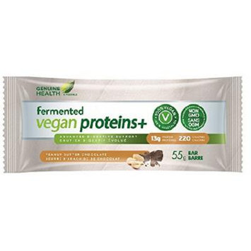 Fermented Vegan Proteins+ Bar -Peanut Butter Chocolate 55g Brand: Genuine Health