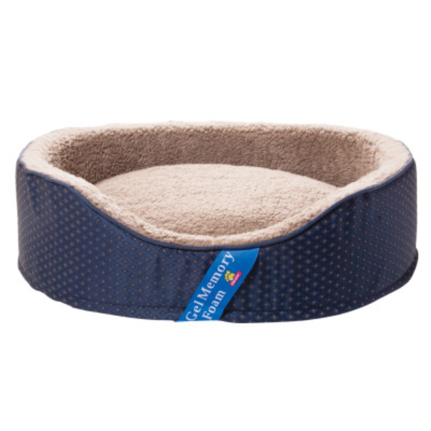 Top Paw Gel Memory Foam Lounger Pet Bed