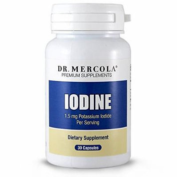 Dr. Mercola Iodine - 30 Capsules - 1.5 mg Potassium Iodide Per Serving - Helps Maintain Healthy Skin, Teeth And Hair