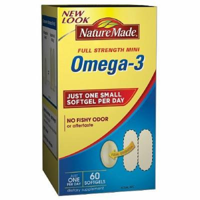 Nature Made Super Omega-3 Fish Oil Mini, Softgels 60 ea
