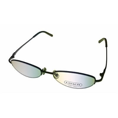 Coach Oval Bottom Rimless Slate Oval Rimless Metal Sherri Slate