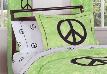 Sweet Jojo Designs Green Peace Out Bedding Collection Sham