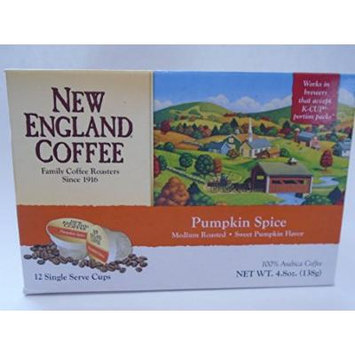 New England Coffee Pumpkin Spice K-cups, 12 Count (Pumpkin)