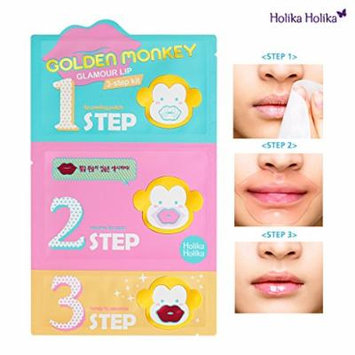 [Holika Holika] Golden Monkey Glamour Lip 3-step Kit (5ea)