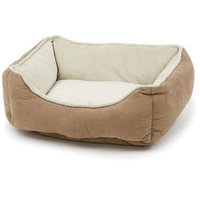 Petco Puffy Box Dog Bed in Tan